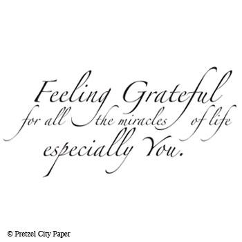 Feeling Grateful Stamp