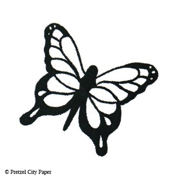 Large Butterfly Stamp Pretzel City Paper