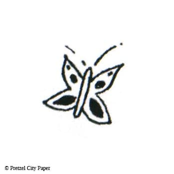 Cute Little Butterfly Stamp