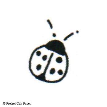 Tiny Ladybug Stamp Pretzel City Paper