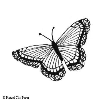 Medium Butterfly Stamp Pretzel City Paper