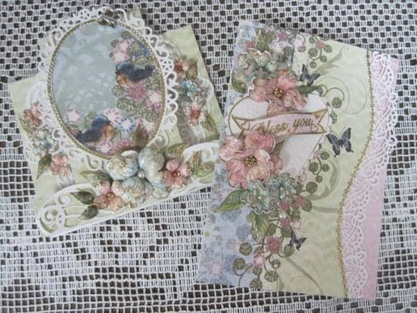 Feb. 3, Sat. Valentine & Heartfelt Garden Fairy cards – Lynda