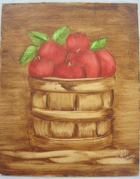 Nov. 17 Sat., Apple Basket Oil Painting with Nina