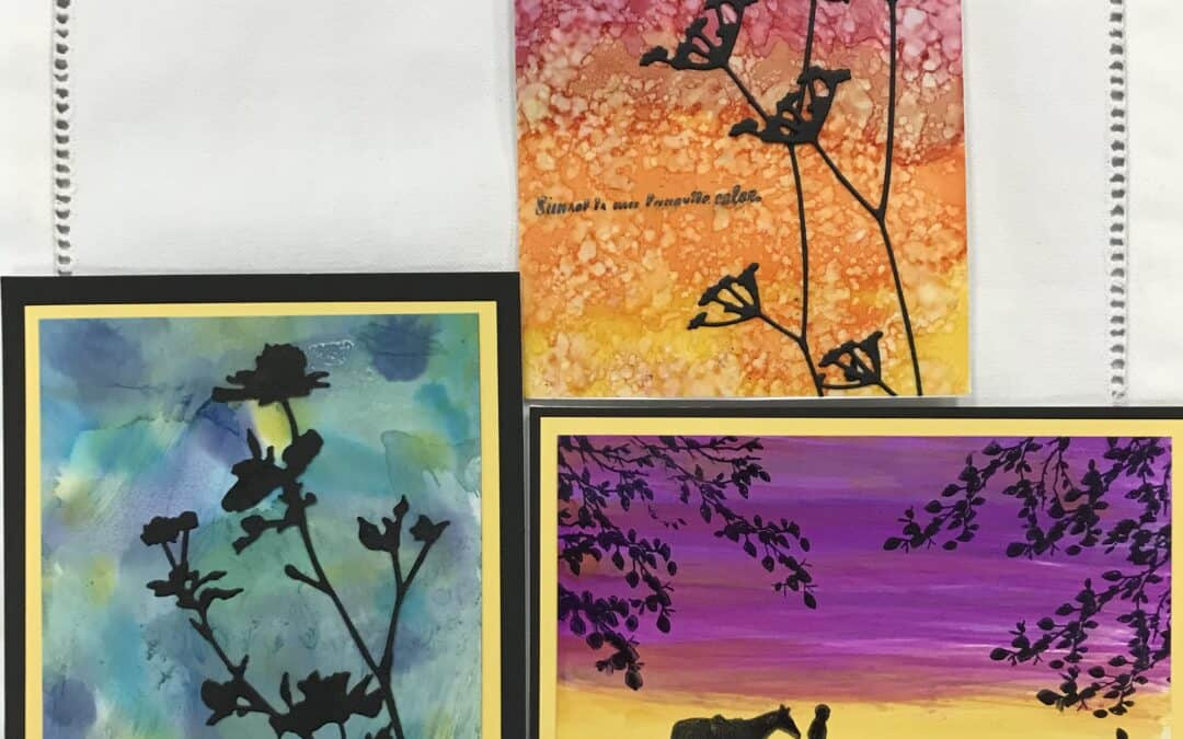 Thurs., July 8 Alcohol Ink real Card Class 9:30 -11:30 am