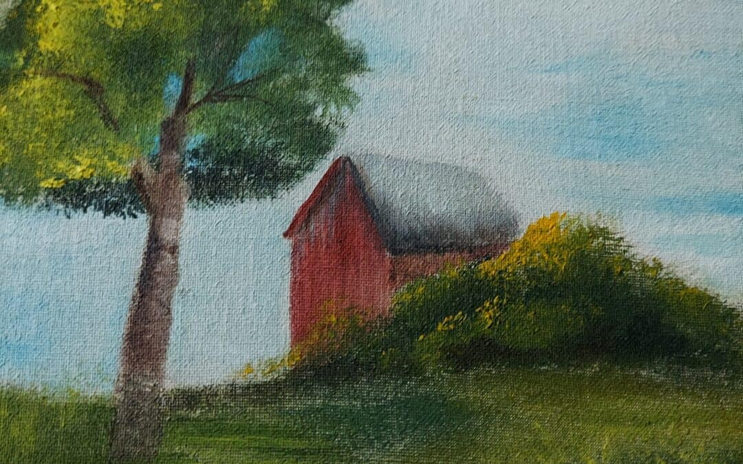 Oil paint Barn Scene with Nina – Weds., June 30 9 am – noon