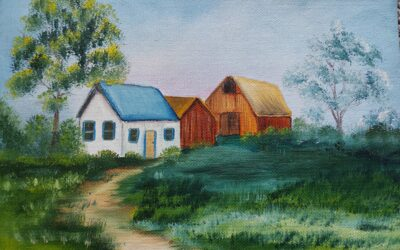 Oil paint Scenery with Nina – Weds., July 14   9 am – noon