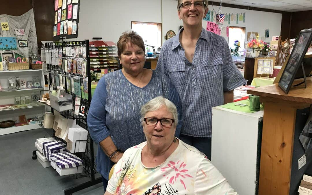 These 3 gals from Memory Lane, Orangeville, IL
