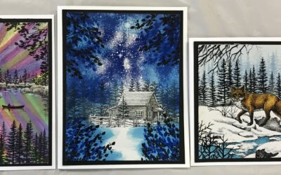 July 29, Thurs. Stampscapes card class  9:30 – 11:30 a.m.